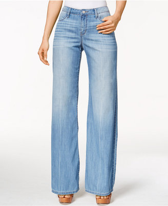 Calvin Klein Jeans Easy Flare-Leg Wash Jeans $89.50 thestylecure.com
