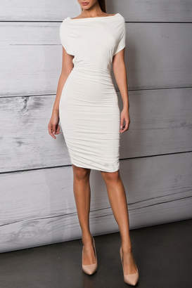Savee Couture Boat Neck Bodycon Dress