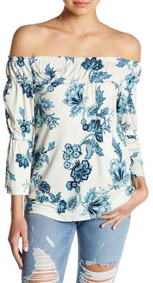 William Rast Lexie Off-the-Shoulder Floral Print Blouse