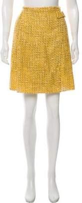 Roland Mouret Knee-Length Tweed Skirt
