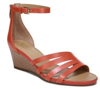 Ankle Strap Back Zipper Wedge Sandal Shopstyle