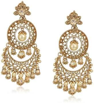 Marchesa Women's Tone/ Multi Tiered Chandelier Drop Earrings