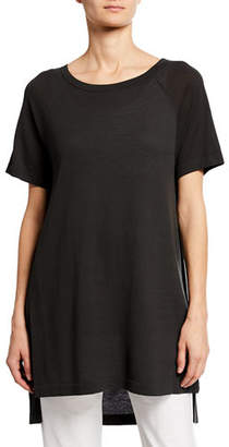 f59dd25be4e Eileen Fisher Plus Size Scoop-Neck Short-Sleeve Tunic