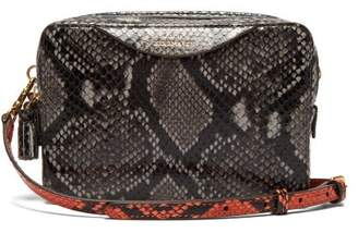 Anya Hindmarch Python Effect Leather Cross Body Bag - Womens - Grey Multi