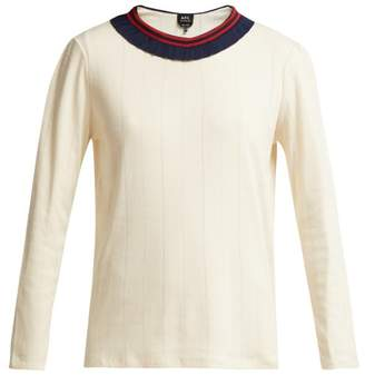 A.P.C. Colombe Frill Knit Sweater - Womens - Cream