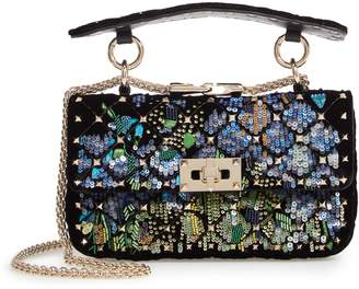 Valentino Small Spike.It Floral Sequin Bag