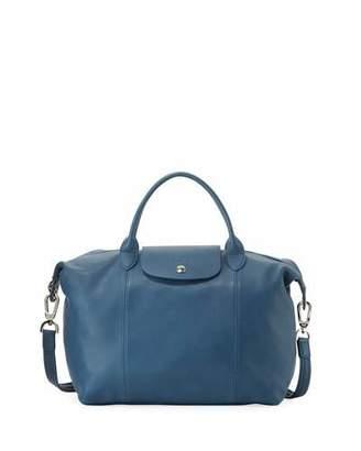 Longchamp Le Pliage Cuir Medium Tote Bag $565 thestylecure.com