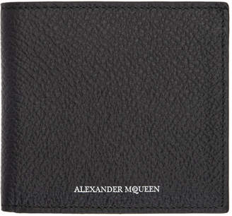 Alexander McQueen Black Logo Wallet