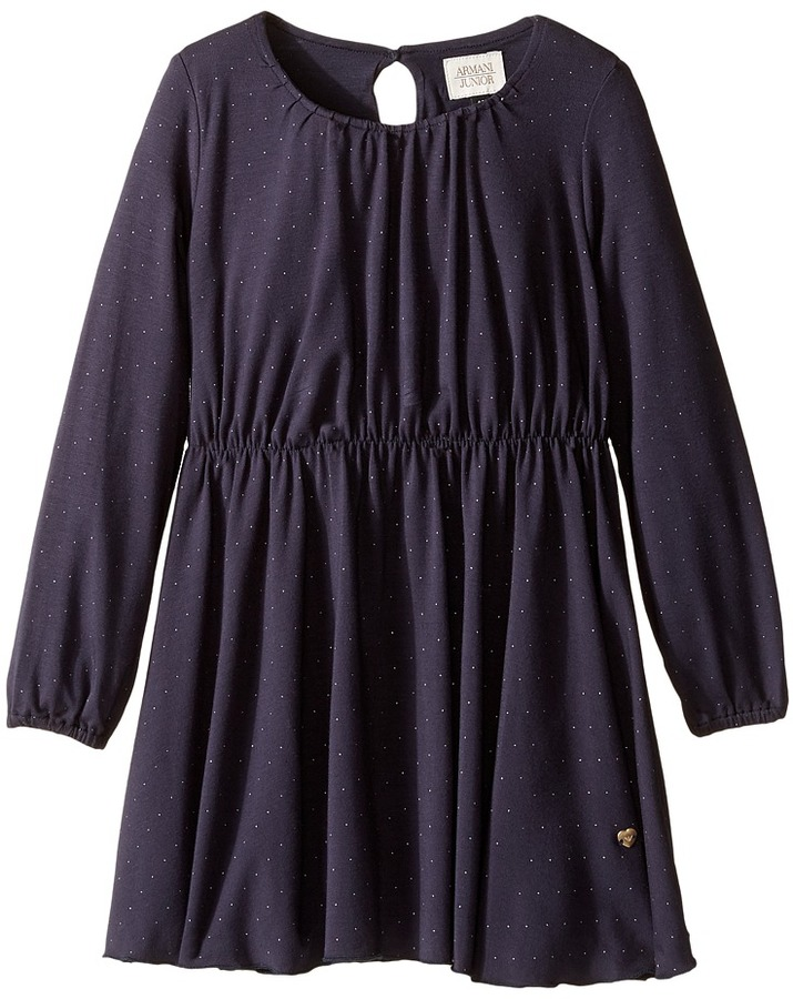 Armani JuniorArmani Junior Sparkle Long Sleeve Dress (Toddler/Little Kids/Big Kids)