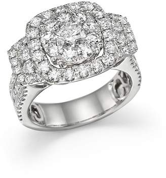 Bloomingdale's Diamond Cluster Statement Ring in 14K White Gold, 3.0 ct. t.w. - 100% Exclusive