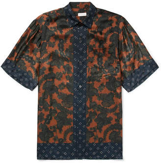 Dries Van Noten Cohen Oversized Printed Satin Shirt