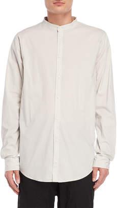 Poeme Bohemien Light Grey Band Collar Shirt