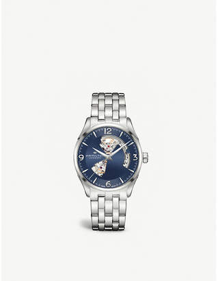 Hamilton H32705141 Jazzmaster Open Heart stainless steel watch