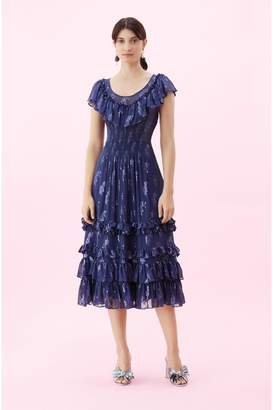 Rebecca Taylor Metallic Star Clip Dress