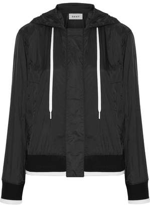 DKNY Hooded Shell Bomber Jacket - Black