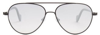 Moncler Aviator Metal Sunglasses - Mens - Black