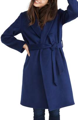Madewell Shawl Collar Wrap Coat
