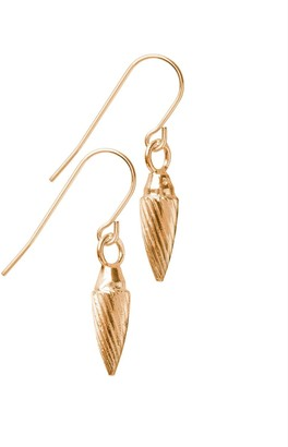 Edge Only Spiral Drop Earrings in Gold
