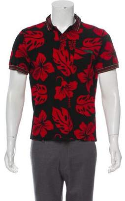 Prada Hawaiian Print Polo