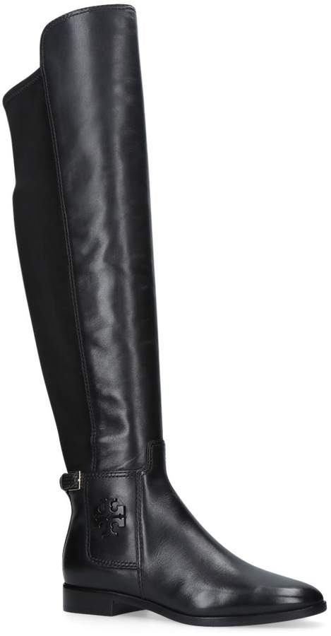 Tory Burch Wyatt Over The Knee Boots, Black, UK 10