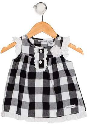 Calvin Klein Girls' Gingham Dress