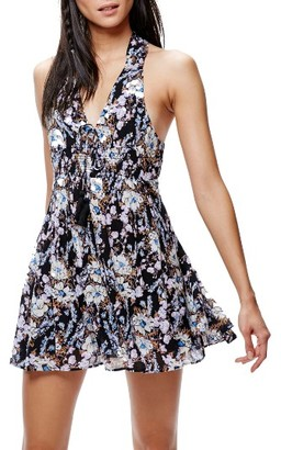 Women's Free People Floral Print Minidress $98 thestylecure.com