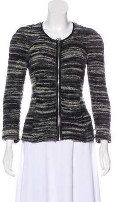 Etoile Isabel Marant Leather Trim Knit Jacket