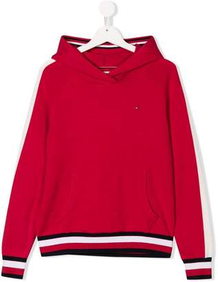 Tommy Hilfiger Junior TEEN striped trim hoodie