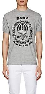 DSQUARED2 Men's Graphic-Print Cotton Jersey T-Shirt-Gray Size S