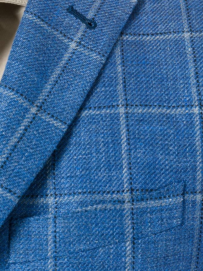 Corneliani woven check blazer