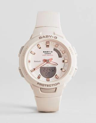 Casio Baby G step tracker silicone watch in pink