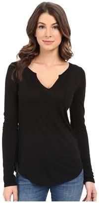 LAmade L/S Open Henley Tee Women's Long Sleeve Pullover