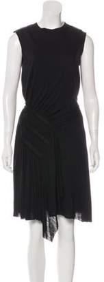 Nina Ricci Pleated Wool Dress Black Pleated Wool Dress