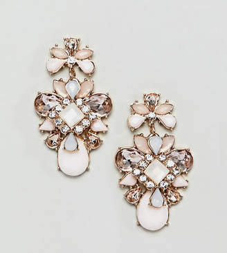 True Decadence pink cluster jewelled earrings
