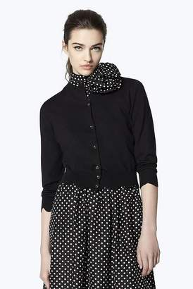 Marc Jacobs Scalloped Wool Cardigan