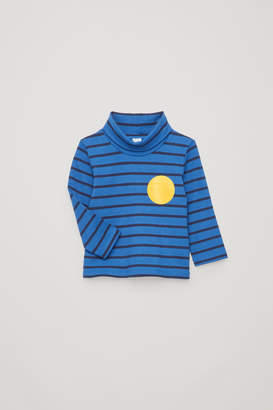 Cos STRIPED ROLL-NECK TOP
