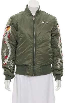 Schott NYC Embroidered Varsity Jacket