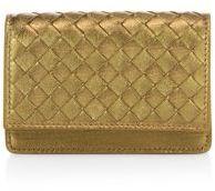 Bottega VenetaBottega Veneta Intrecciato Metallic Leather Flap Wallet