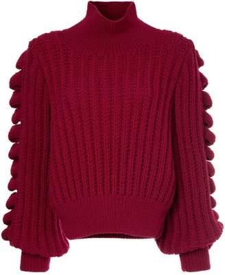 Liya hand knitted turtleneck jumper