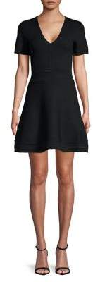 French Connection Elie Knit Fit-&-Flare Dress
