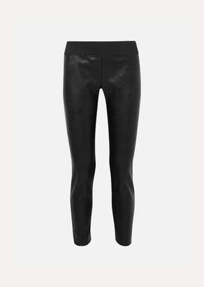 Stella McCartney Darcelle Faux Leather And Jersey Leggings - Black