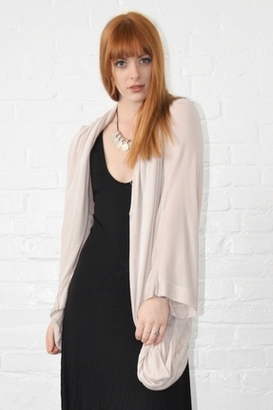 Fluxus Bloom Cardigan in Champagne $133 thestylecure.com