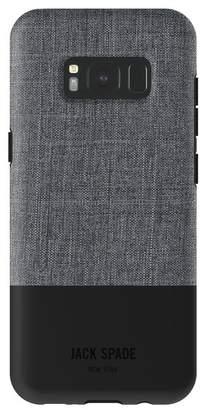 Jack Spade Colorblock Case for Samsung Galaxy S8 - Tech Oxford Gray/Black