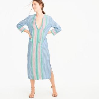 Linen caftan in vintage stripe $98 thestylecure.com