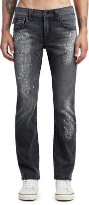 True Religion MENS PAINT SPLATTER BIG T STRAIGHT JEAN W/ FLAP