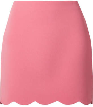 Miu Miu Scalloped Cady Mini Skirt - Pink