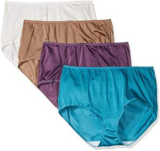 "Fruit of the Loom Women's Plus Size ""Fit For Me"" 4 Pack Nylon Brief Panties"