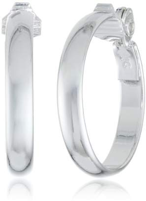 "Anne Klein Classics"" -Tone Clip Hoop Earrings"