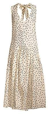 Stella McCartney Women's Polka Dot-Print Silk-Blend Maxi Dress