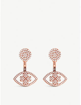 Folli Follie HEART4HEART Mati rose gold plated earrings